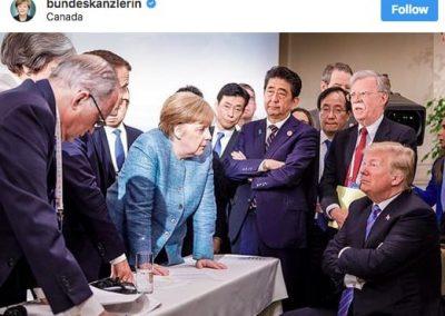 Angela Merkel au G7, nouvelle égérie des réseaux sociaux ?